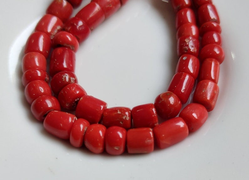 Quality Coral 5-7 MM 100/% Natural Gemstone Natural Coral Faceted  Beads 14Inch Strand  AA