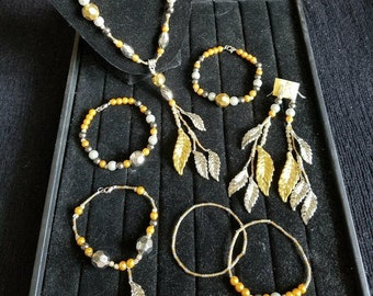 Gold and Silver Jewelry Set (7piece)