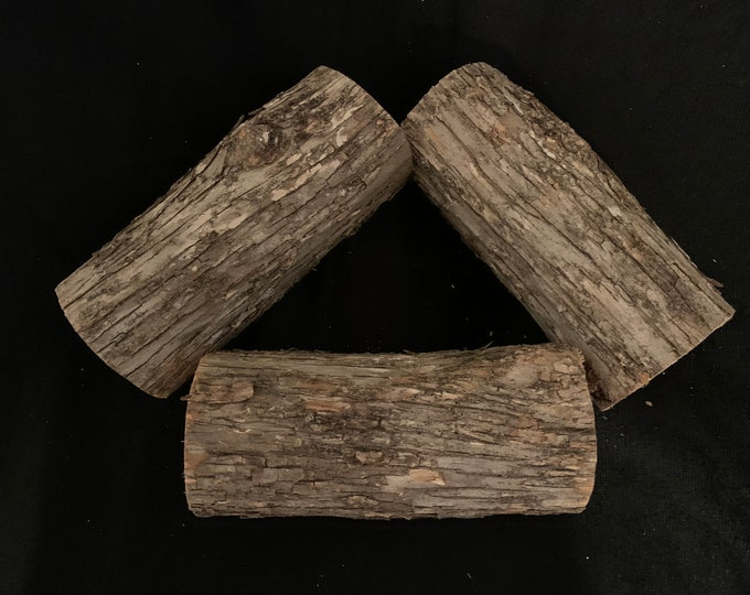 Ironwood logs, approximately 6 inches long and about 2 3/4 inches diameter