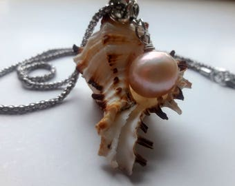 RARE! Perfectly Round Kasumi Light Pink Kasumi  Pearl Necklace  Natural Pearl South Seas Kasumi Pearl Kasumi Pearl Pendant with Сhain