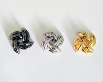 pinwheel filgranes 33 x 30 mm silver metal 2 round prints