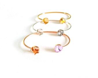 4e6f09c6e76d Swarovski Crystal Bracelet Blank for Jewelry Making Cuff Bracelet Blank  Swarovksi 4470 10mm Crystal Cushion Cut Cuff Silver Gold Rose Gold