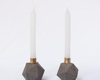 Géométrique bougeoir ciment bougie porte bougies décoratives or bougie designer des bougies bougies décoratives de la maison bougie décor gris
