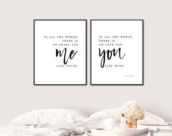 Romantic Wall Quote Etsy