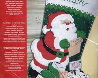 Letter santa kit etsy bucilla letters to santa sequined felt christmas stocking kit puppy dog helper spiritdancerdesigns Gallery