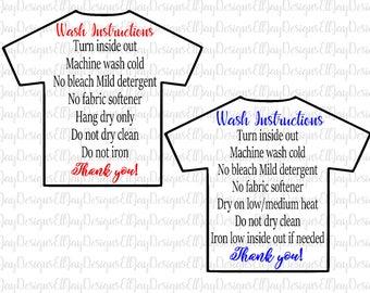 Shirt wash instructions svg, HTV shirt care card, care card svg, shirt care card, care card bundle svg, shirt svg, print and cut files, htv