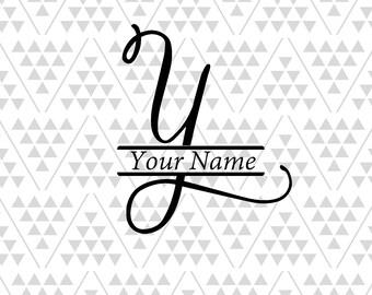 Monogram Letter Y Split Vine Svg Font Fancy