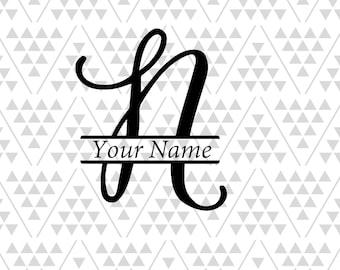 Monogram Letter N Split Svg Letters Vine Font Fancy