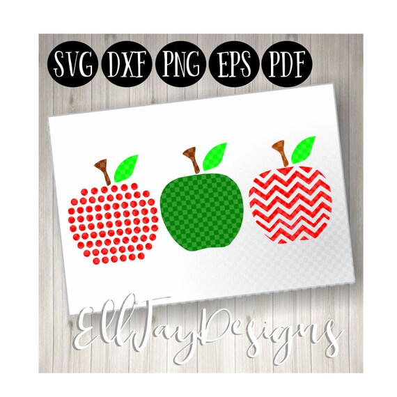 Apple Monogram Svg Apple Svg School Svg Back To School Svg Etsy