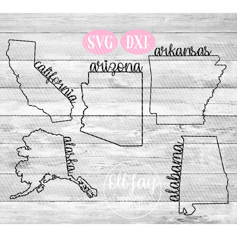 50 States SVG, huge svg bundle, svg bundle, 50 Designs, Fancy state svg,  state outline svg, United States svg, USA svg, big bundle svg, svg