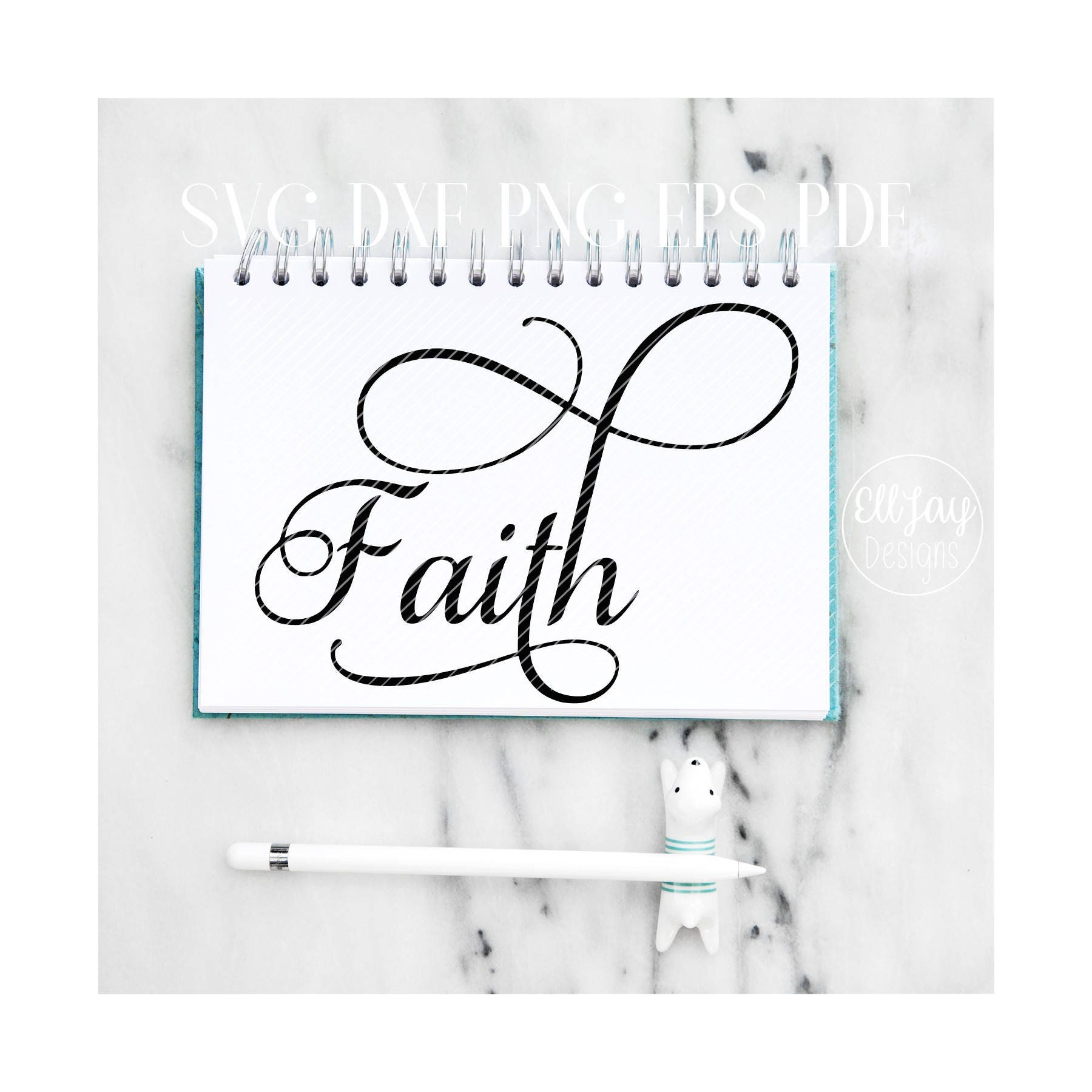 faith svg christmas font svg cursive lettering svg etsy Faith Women's Hat 50