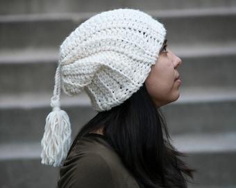 Crochet Pattern, Glitch hat by Rebecca Velasquez - RV designs Easy Beginner Slouch Beanie