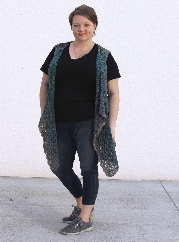 Cascade Falls Crochet Pattern by Rebecca Velasquez size XS S image 0