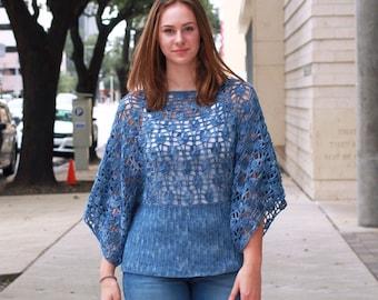 Ahsoka Top Crochet Pattern by Rebecca Velasquez size XS, S, M, L, 1X, 2X, 3X, 4X, 5X, Easy Summer Top Crochet Tee