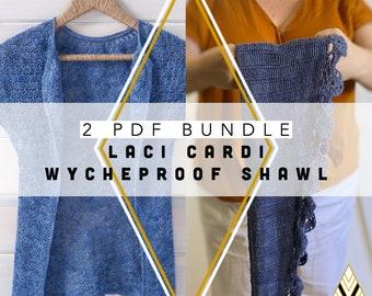 2 Crochet Pattern Bundle Laci Cardi and Wycheproof by Rebecca Velasquez - RV Designs