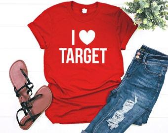 b8ddc6ca09 I Love Target Graphic T-Shirt (White Text)