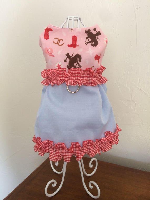 903ca4b6574 Dog Harness Dress Square Dance Dog Harness Dress Size XS