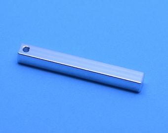 5 x Aluminium stamping bar, metal blanks, hand stamping blanks, stamping blanks, metal stamping, stamp blanks, stamping bar, square bar