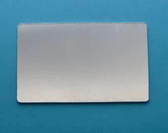 Aluminium stamping blanks, 1x, WALLET INSERT (1.5mm depth), metal blanks, hand stamping blanks, stamping blanks, metal stamping, wallet gift