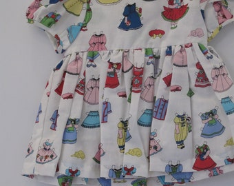 infant paperdoll dress