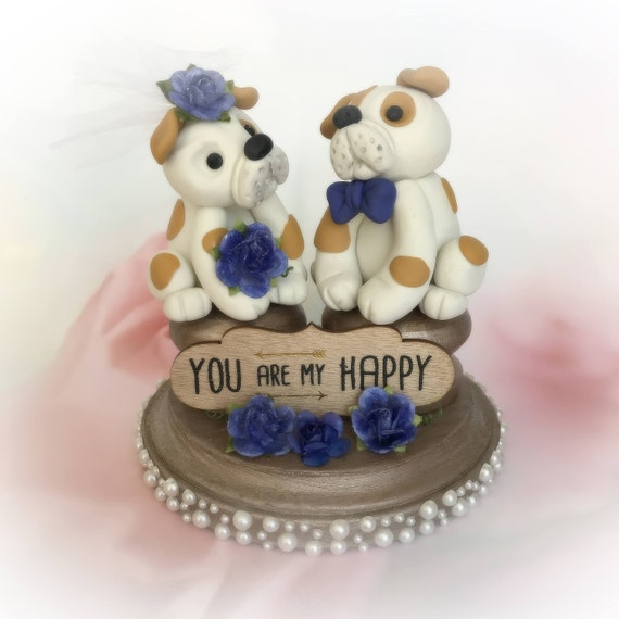 british wedding cake toppers wedding cake topper bulldog and groom etsy 12172