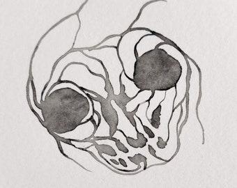 Veiny Sumi Skull