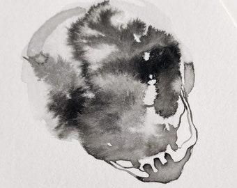 Sumi Skull