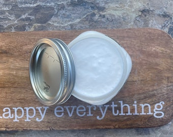 Body Cream in Mason Jars - Multiple Scent Options