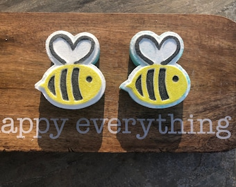 2 Pack ,Bee Bath Bombs, Hand painted
