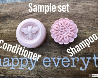 Sample Set, Floral, Fine Hair Shampoo bar and Conditioner bar set, PH Balanced, Sulfate Free