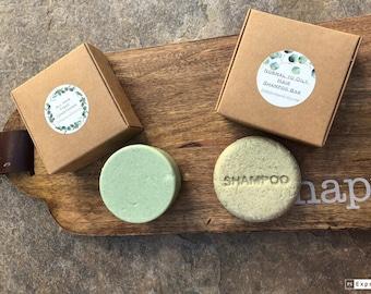 Herbal  Oily Hair Shampoo and Conditioner Bar, PH Balanced, SLS Free zero waste