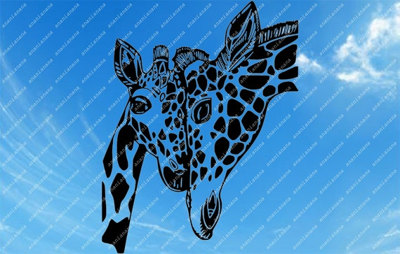 Giraffe Svg File Safari Animals Svg African Animals Clip Etsy