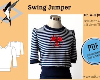 Swing Jumper - PDF Schnittmuster Gr. 32-52