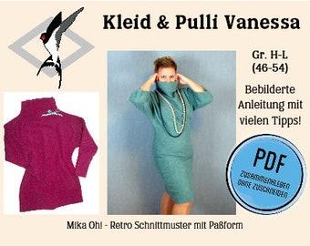 Vanessa Kleid & Pulli - PDF Schnittmuster Gr. 46-54