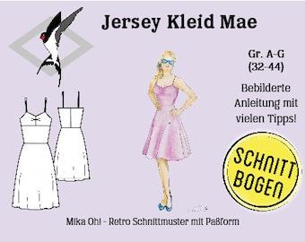 Mae Jersey Dress - Cut Bow Size 32-44