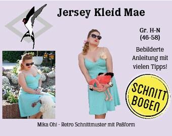 Mae Jersey Dress - Cut Bow Size 46-58