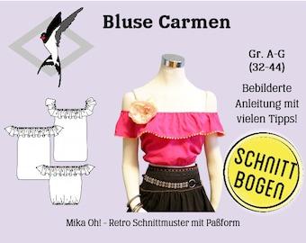 Blouse Carmen - Cut bow size 32-44