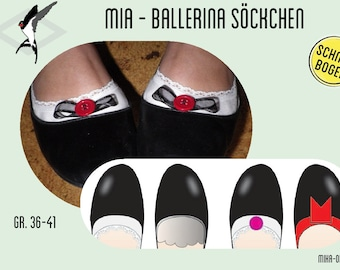 Mia - Cut Ballerina Socks - Cut Bow
