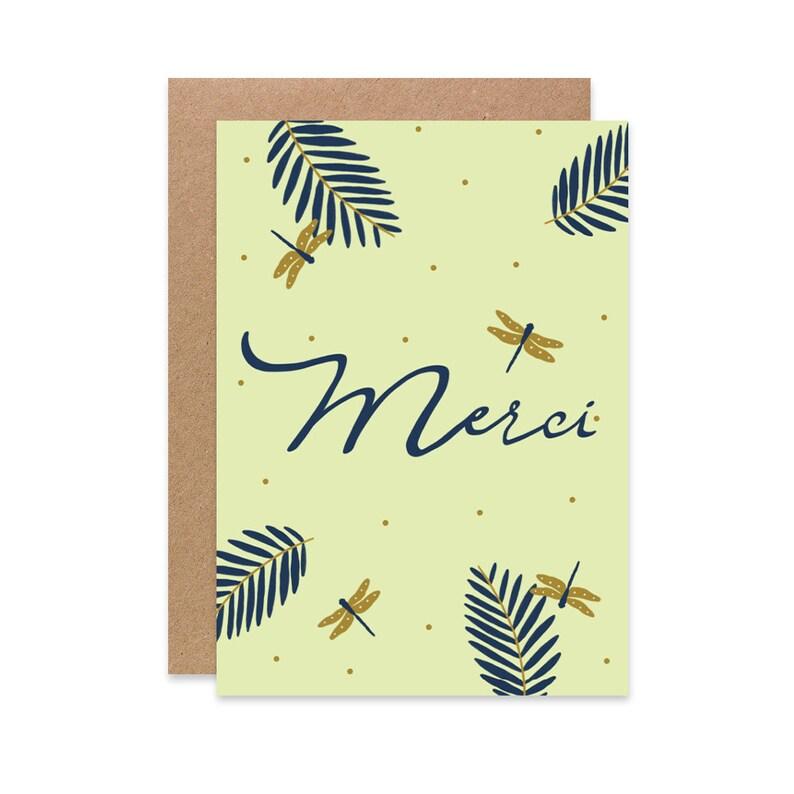Carte postale merci remerciement | Etsy