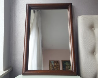 Vintage Wooden Mirror Years 30 Rectangle