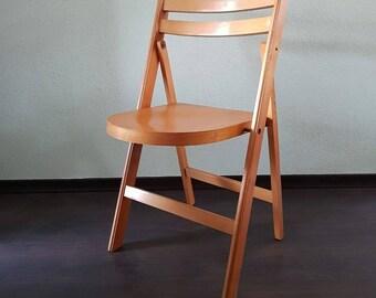 Wood Folding Chair Etsy