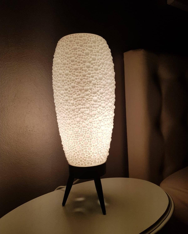 Retrò plastica Bubbles lampada da tavolo anni 70 treppiede