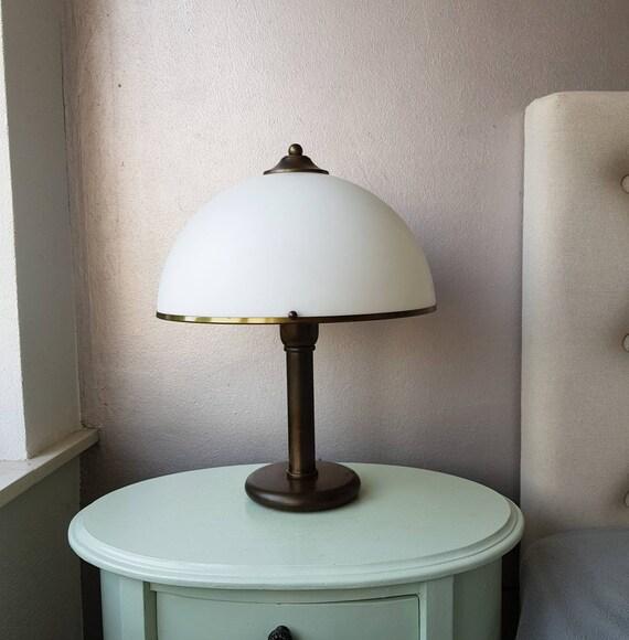 Lampada Da Tavolo Fungo 70 Anni Eta Di Spazio Bianco Etsy
