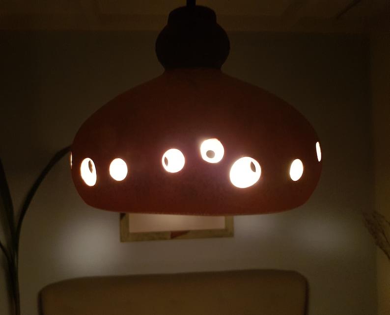 Years 60 ceramic pendant lamp West Germany