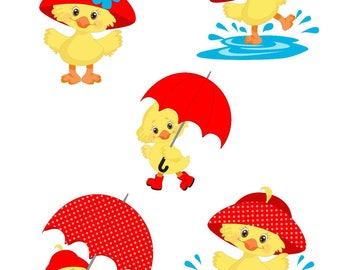 Rainy Day Ducks Die Cuts, Planner Die Cuts