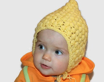 d6ed464f170 Yellow baby hat girl Crochet beanie Baby crochet hat Baby caps girls Baby  girl hats newborn Crochet cap present for baby Cute baby hat