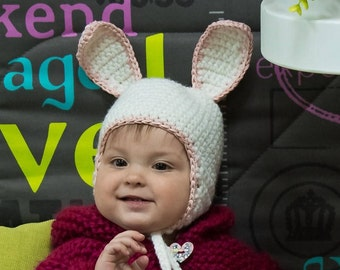 Bunny hat for baby Sitter bunny bonnet Baby bunny hat Bunny hat with ears Newborn bunny hat Newborn bunny bonnet Hat baby girl bunny