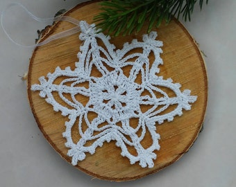 Christmas in july sale tree decoration snowflake Snowflake ornament handmade Crochet snowflakes Christmas crochet snowflake Set of 11