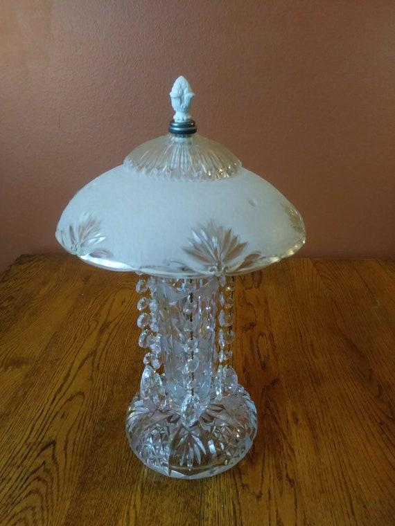 Vintage Cut Crystal Table Lamp