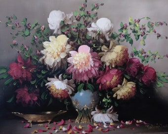 Original Peonies Still Life Painting